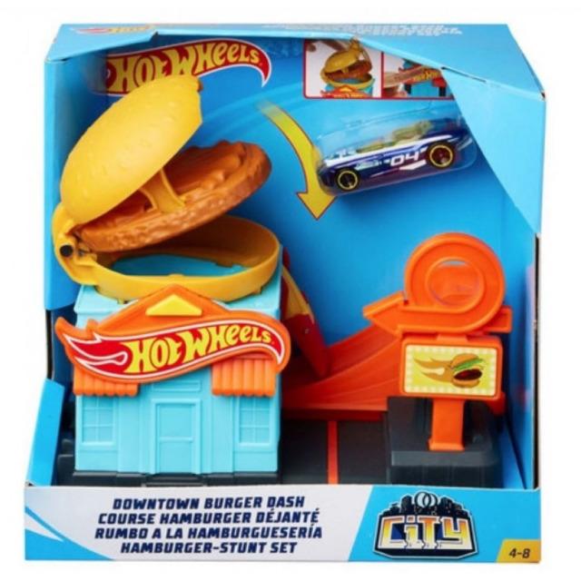 Obrázek produktu Hot Wheels City Postav město Občerstvení Hamburger, Mattel GPD09