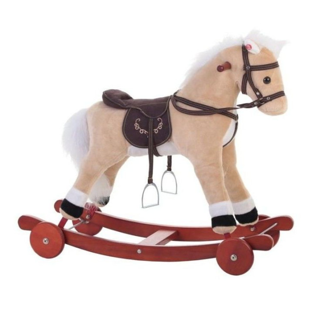 Obrázek produktu Llopis Houpací kůň béžový + kolečka