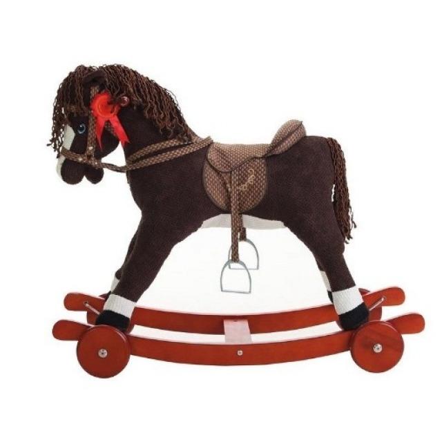 Obrázek produktu Llopis Houpací kůň hnědý + kolečka