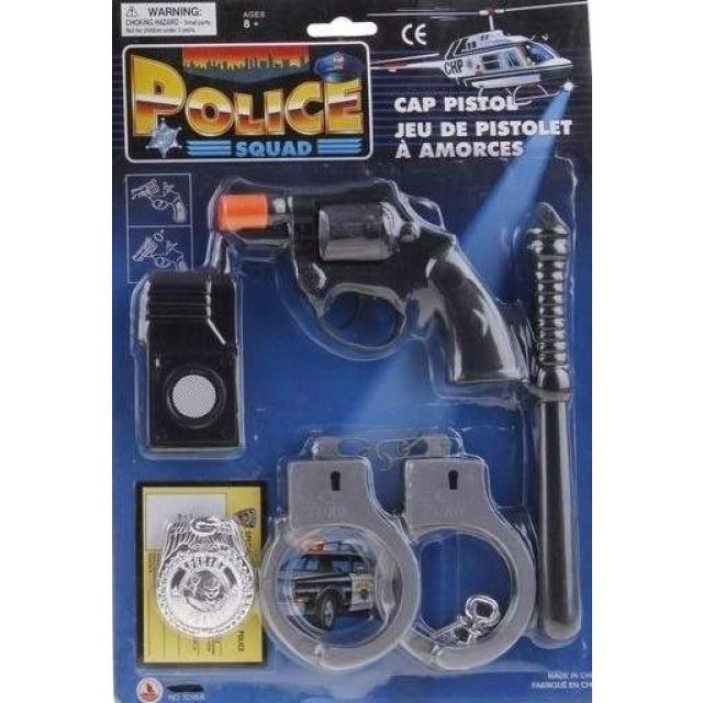 Obrázek produktu Policejní sada s pouty a vysílačkou