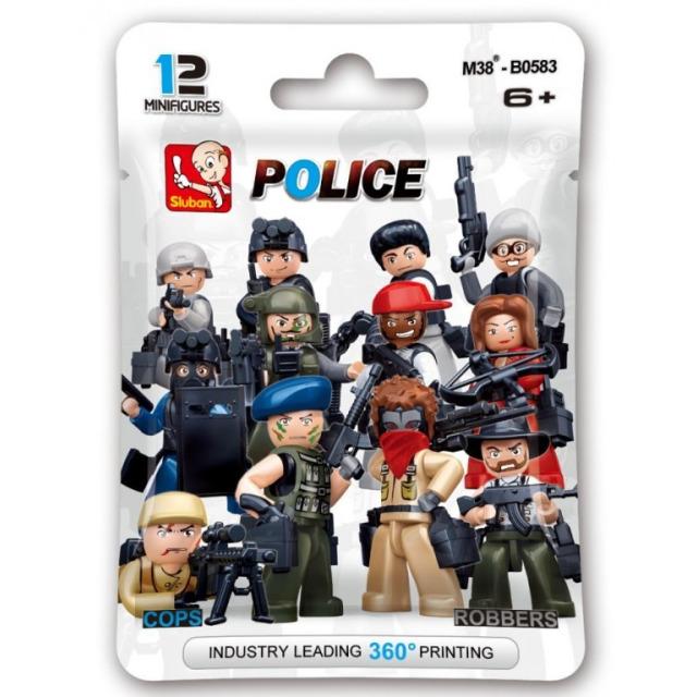 Obrázek produktu Sluban Police M38-B0583 Figurky policie a zloději, 12 druhů