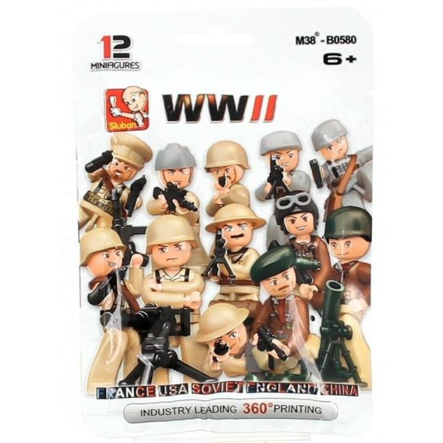 Obrázek produktu Sluban WWII M38-B0580 Figurky vojáci, 12 druhů