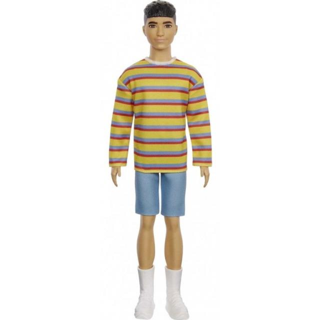 Obrázek produktu Barbie Módní příběhy Ken Pruhované tričko, Mattel GRB91