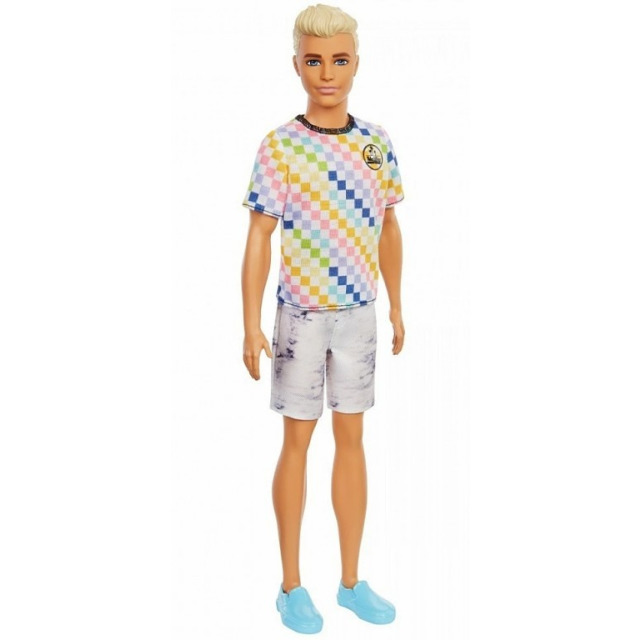 Obrázek produktu Barbie Módní příběhy Ken Kostkované tričko, Mattel GRB90
