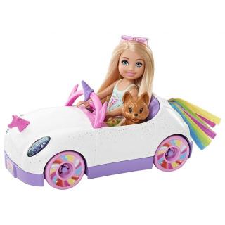 Obrázek 1 produktu Mattel Barbie Chelsea a kabriolet s nálepkami, GXT41