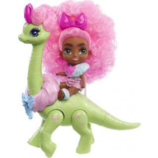 Obrázek 1 produktu Mattel CAVE CLUB Panenka Diva Tot s dino zvířátkem, GXP23