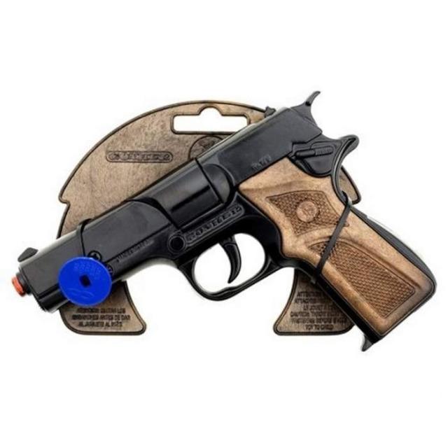 Obrázek produktu Gonher Policejní pistole černá kovová 8 ran