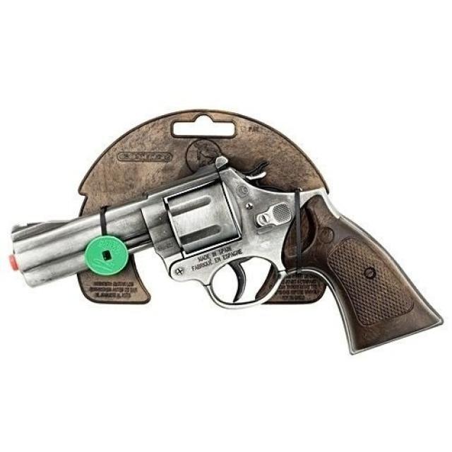 Obrázek produktu Gonher Policejní revolver Gold colection stříbrný kovový 12 ran