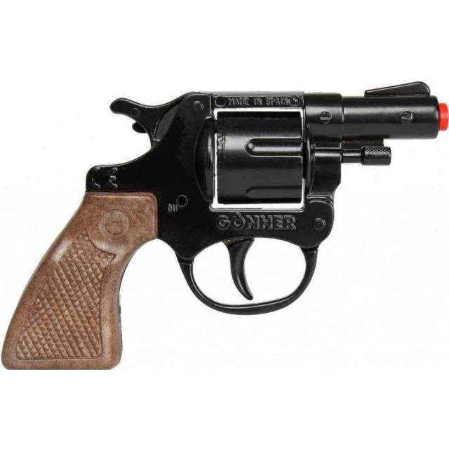 Obrázek produktu Gonher Policejní revolver kov černý 8 ran