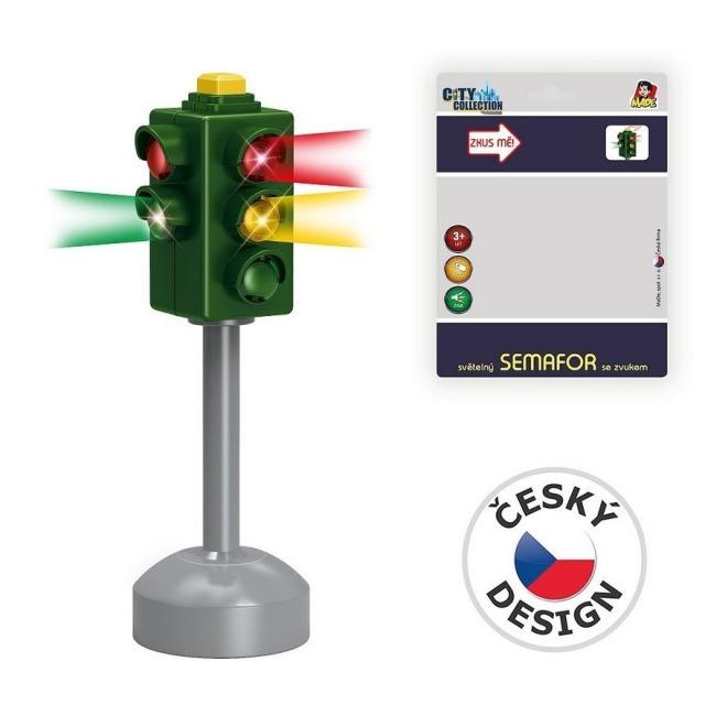 Obrázek produktu MaDe Světelný Semafor se zvukem + značky