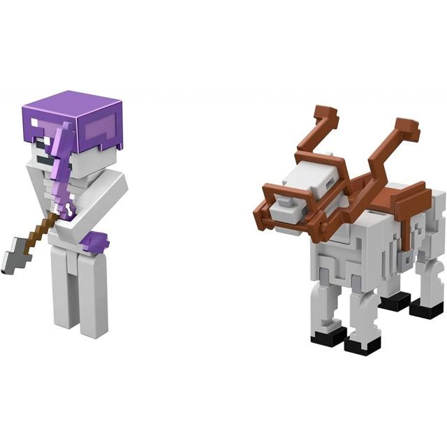 Obrázek produktu Minecraft  8 cm figurka dvojbalení SKELETON HORSEMAN BATTLE, Mattel GTT55