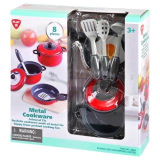 Obrázek 1 produktu PlayGo 6836 Kovové kuchyňské nádobí 8 dílů