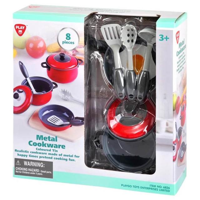 Obrázek produktu PlayGo 6836 Kovové kuchyňské nádobí 8 dílů