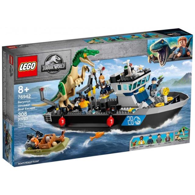 Obrázek produktu LEGO Jurassic World 76942 Útek baryonyxe z lodě
