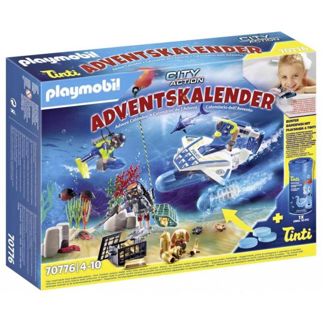 Obrázek produktu Playmobil 70776 Adventní kalendář Zábava ve vodě - Nasazení policejních potápěčů