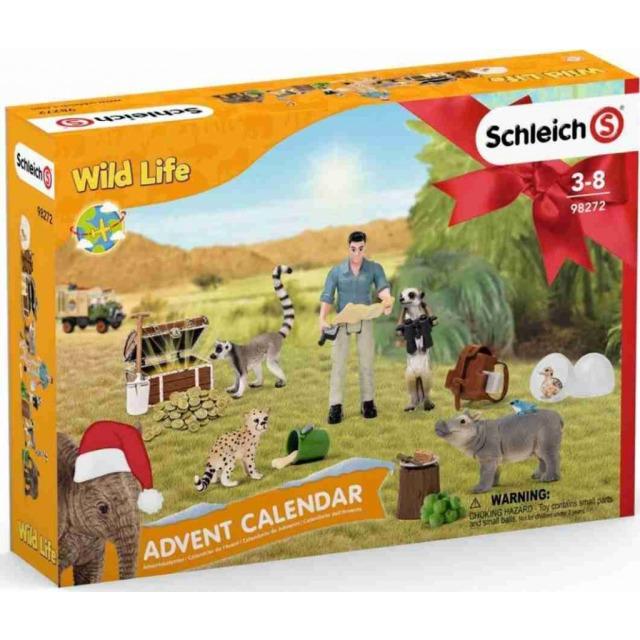 Obrázek produktu Schleich 98272 Adventní kalendář Africká zvířata  2021