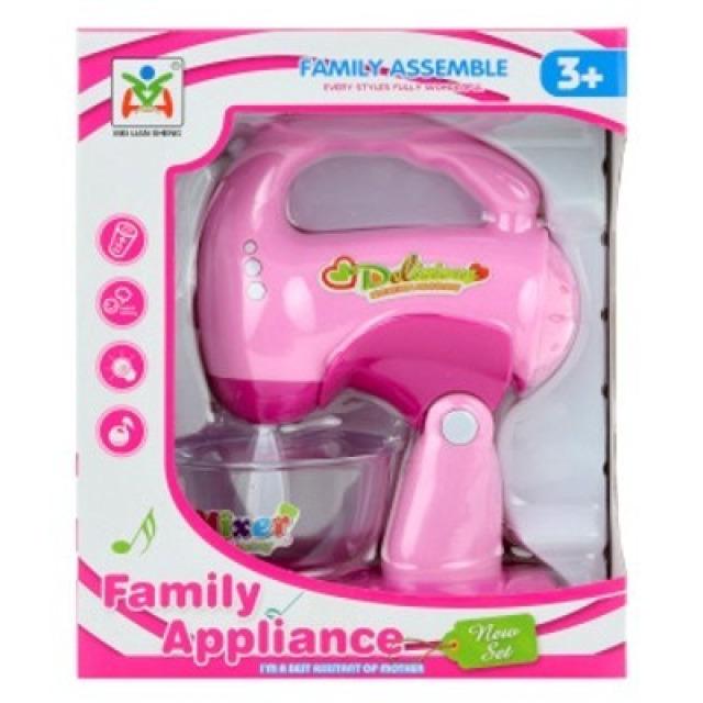 Obrázek produktu Dětský Šlehač na baterie růžový, světlo, zvuk