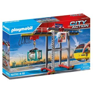 Obrázek 1 produktu Playmobil 70770 Portálový jeřáb s kontejnery