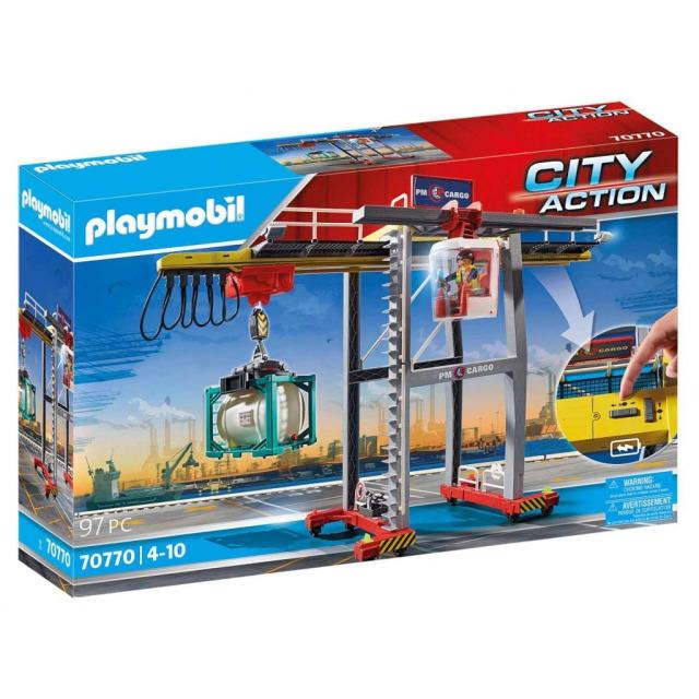 Obrázek produktu Playmobil 70770 Portálový jeřáb s kontejnery