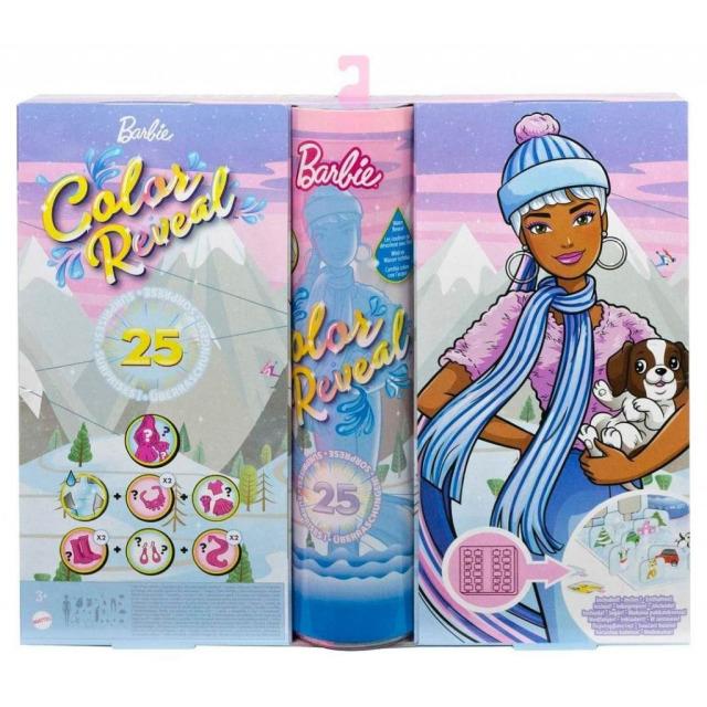 Obrázek produktu Mattel Adventní kalendář Barbie Color Reveal, HBT74