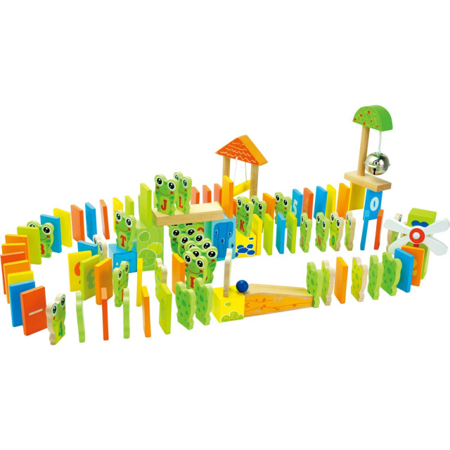 Obrázek produktu Small Foot dřevěné domino Žabky na hřišti