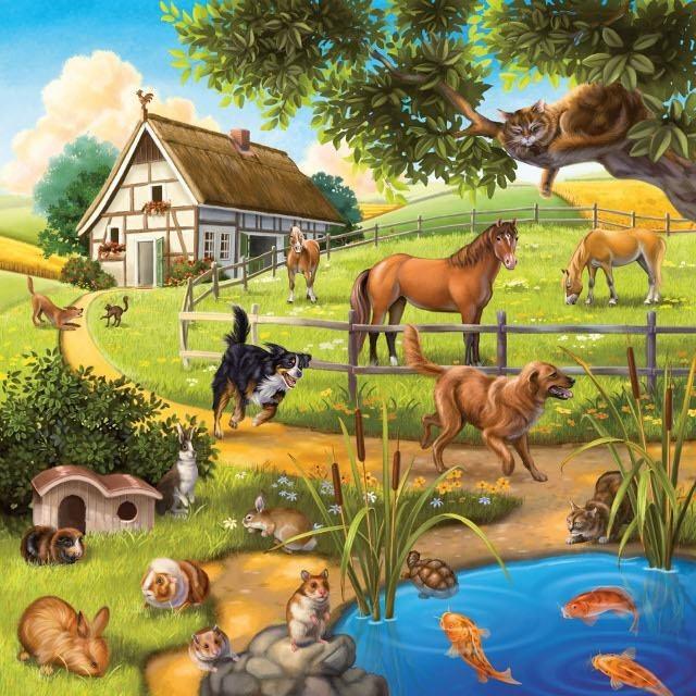 Obrázek produktu Ravensburger 09265 Puzzle Zvířata 3 motivy x 49 dílků