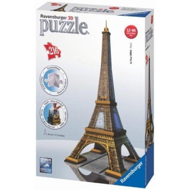 Obrázek produktu Ravensburger 12556 Puzzle 3D Eiffelova věž 216 dílků