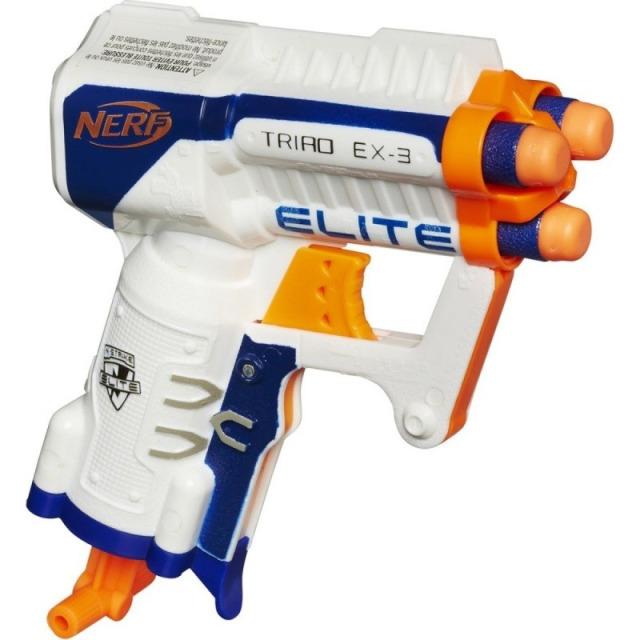 Obrázek produktu NERF Elite kapesní pistole s 3 hlavněmi bílá