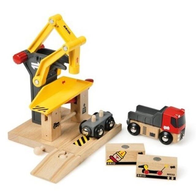 Obrázek produktu BRIO 33280 Překladiště s vagónkem a nákladním autem