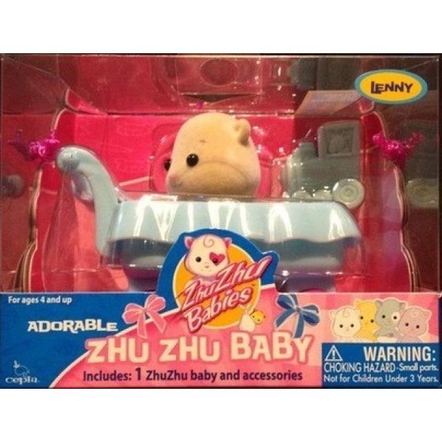 Obrázek produktu Zhu Zhu Babies Miminko v kočárku Lenny + 2 oblečky zdarma