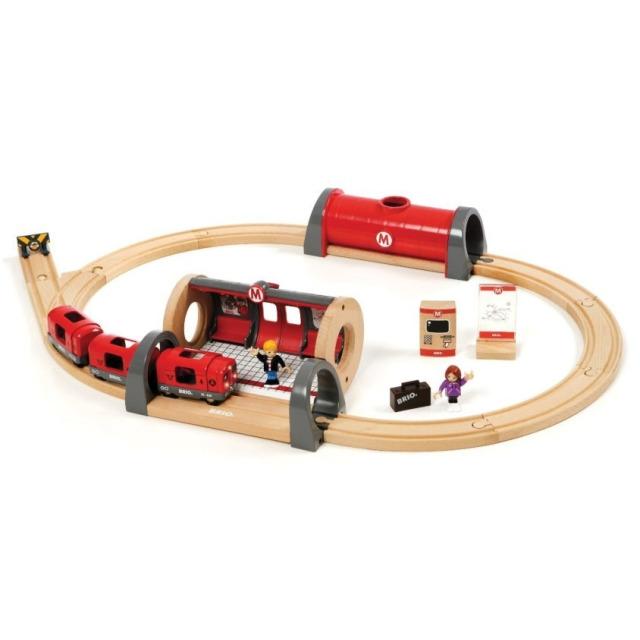 Obrázek produktu BRIO 33513 Souprava metra s nástupištěm a kolejema