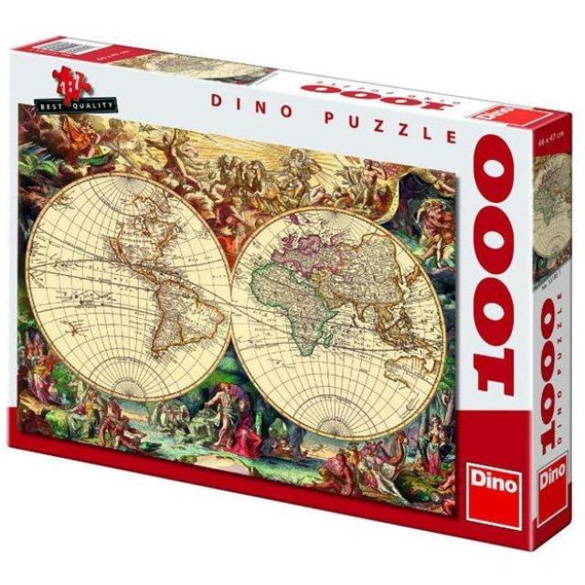 Obrázek produktu DINO Puzzle Historická mapa světa 1000 dílků