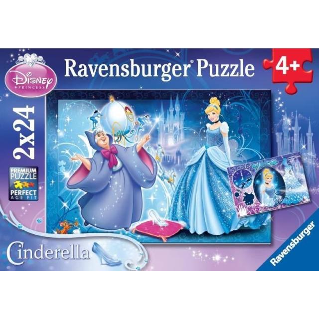 Obrázek produktu Puzzle Popelka 2x24d. Ravensburger