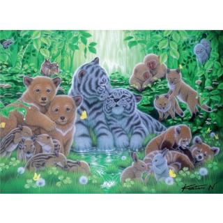 Obrázek 1 produktu Puzzle Mláďata v lese 500d. Ravensburger