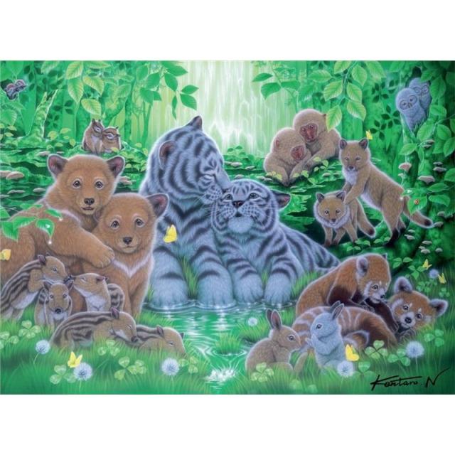 Obrázek produktu Puzzle Mláďata v lese 500d. Ravensburger