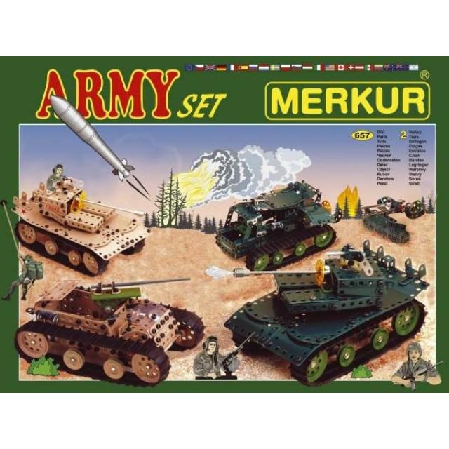 Obrázek produktu Merkur 1129 Army Set - Vojenská technika, 657 dílů