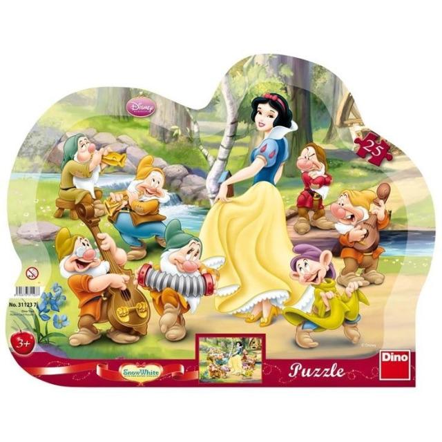 Obrázek produktu Tvarové Puzzle Sněhurka 25d. Dino