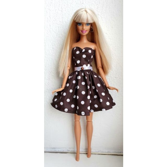 Obrázek produktu LOVEDOLLS Hnědé Retro šaty
