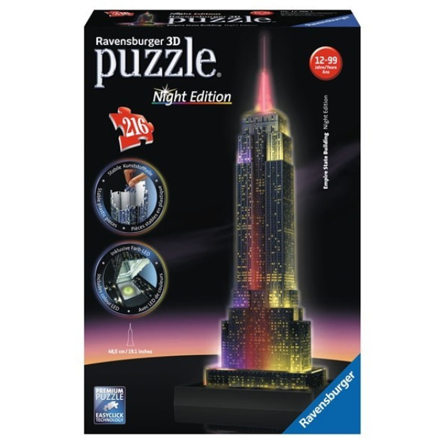 Obrázek produktu 3D Puzzle svítící Empire State Building 216d.